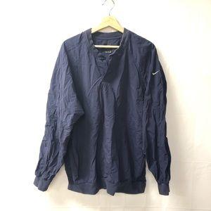 Nike medium navy blue windbreaker jacket